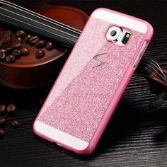 Hard Flash Plastic Cover Diamond Bling Crystal Capa Fundas Case For Samsung Galaxy S6 / S6 Edge/S6 Edge + Plus / S5 / S4 / S3 | Best Online Store - FREE DELIVERY WORLDWIDE