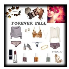 """""""Forever Fall"""" by boudoir702 on Polyvore featuring Alexis Bittar, For Love & Lemons, Agent Provocateur, Hanky Panky, La Perla, ATM by Anthony Thomas Melillo, Cachet, Gianvito Rossi, Essie and photography"""