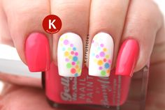 Glitter placement: muti-coloured neon dots