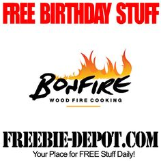 FREE BIRTHDAY STUFF – Bonfire Wood Fire Cooking - FREE Bday Appetizer