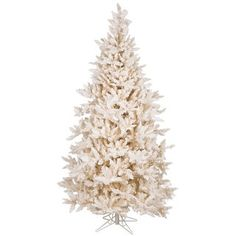 Shop for Vickerman Cream PVC 7.5-foot Flocked Vintage Fir Artificial Christmas Tree with 700 Warm White LED Lights and more for everyday discount prices at Overstock.com - Your Online Home Decor Store!