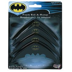 Batman Heroes Batarangs - I can use these as prizes for games (musical chairs, pin the bat on Batman...)