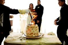 WPJA 2010 Q2 Contest - FOOD AND DRINKS - 10th Place - Photo By: Shane Carpenter from Maryland, United States  Judges Comments:  Fun way to show flaming creation with nice moment between bride and groom to add a little extra dimension. I may have cropped in from right?  More photos/info at http://www.WPJA.com/