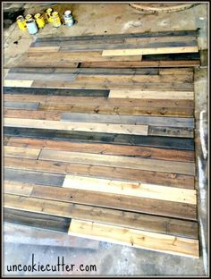 Mixed wood feature wall