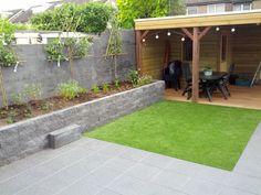 Pergola Ideas For Patio Outdoor Kitchen Patio, Small Backyard Patio, Outside Patio, Backyard Patio Designs, Modern Backyard, Back Garden Design, Garden Design Plans, Garden Deco, Terrace Garden