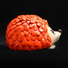 Pottery Hedgehog Animal Sculpture and Rattle by HedgehogLounge, $28.00