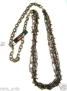 NWT STYLE AND CO. BROWN / BRONZE COLOR STRANDS NECKLACE