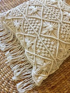 Intricately woven cotton yarn forms its striking design. Pair two to match or feature in a scatter combo. Nude, natural tones allow for versatile styling option Macrame Wall Hanging Patterns, Macrame Patterns, Macrame Bag, Macrame Knots, Boho Cushions, Pillows, Chair Cushions, Bath Bomb Gift Sets, Macrame Design