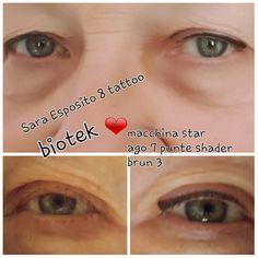 Eyeliner su richiesta brun 3, BIOTEK macchina Star, ago 7 punte shader
