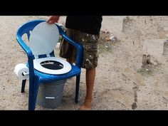 Homemade Camping Toilet Comfort! http://rethinksurvival.com/homemade-camping-toilet-comfort-video/