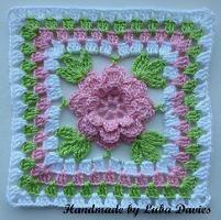 Crocheting : Flower in granny square