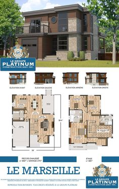 Custom house plan by Drummondhouseplan  Dream house  modern house     marseille plan
