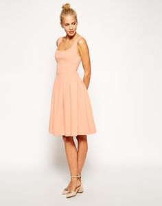 My dress for Casey's wedding?   Nice price too! This color is Dark Nude.   What do you think @tzubrys ?   ASOS Debutante Full Midi Dress