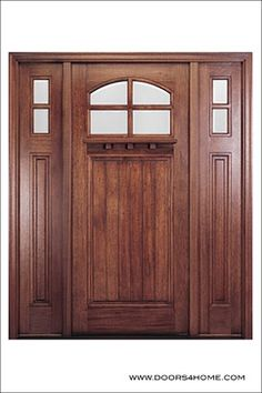 Front doors on pinterest entry doors craftsman and wood for Arts and crafts front doors