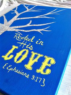 Rooted in Love Canvas Painting Blue/ by RusticGraceuponGrace, $44.99