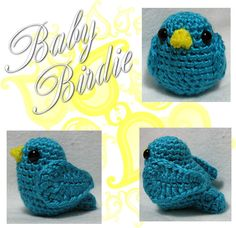 Baby Bird Amigurumi - Link to Free Crochet Pattern