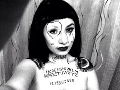 You used to call me on ouija board ! Ouija witchcraft black magic witch Halloween carnival ideas costume pagan black and white