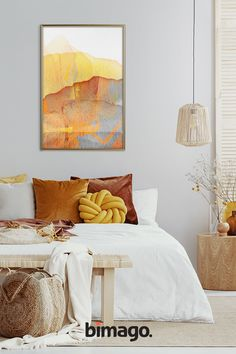 Warm and sunny shades are a perfect way for the summer vibe in your space Cozy Bedroom, Bedroom Decor, Cheap Bedroom Makeover, Childrens Bedroom Furniture, Bedroom Wall Designs, Bedroom Plants, Trendy Home, Decoration, Sweet Home