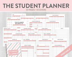 Student Planner, Study Planner, College Planner, Academic Planner, School Planner, Assignment Planner, High School Planner, Back to School