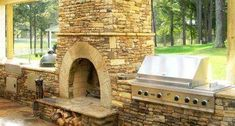 """Awesome """"outdoor kitchen designs layout patio"""" detail is offered on our site. Check it out and you wont be sorry you did. Outdoor Fireplace Brick, Fireplace Kits, Outdoor Fireplace Designs, Outdoor Stone, Outdoor Carpet, Outdoor Kitchen Design, Tiny House, Kitchen Designs, Kitchen Ideas"""