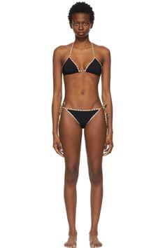 Designer Clothes, Shoes & Bags for Women | SSENSE Bikini Bottoms, Bikini Tops, Thong Bikini, Patent Leather, Leather Flats, Bikinis, Swimwear, Burberry, Beige