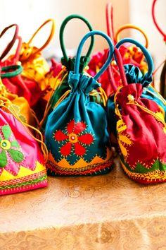 #Indian wedding favor bags #Beautiful!!