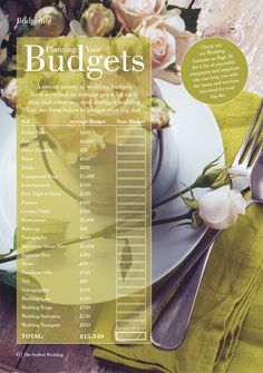 Need help with budgeting? this will certainly help! Perfect Wedding, Our Wedding, Wedding Company, Park Hotel, Big Day, Budgeting, How To Plan, Budget Organization, Budget