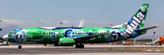 Kulula plane in full livery at Cape Town International Airport