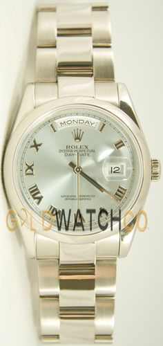 Rolex Mens New Style Heavy Band President Day Date, Oyster Band ICE Blue Roman Dial.