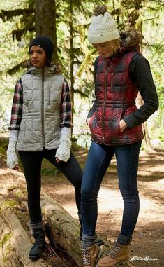 An updated, vest version of one of Eddie Bauer's Originals. The Yukon Classic Down Vest is a lightweight down insulator and in every way a classic. Hiking Boots Outfit, Summer Hiking Outfit, Hiking Outfits, Cute Camping Outfits, Fall Winter Outfits, Autumn Winter Fashion, Summer Outfits, Winter Clothes, Winter Boots