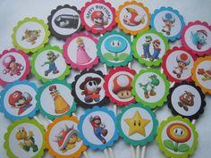 Super Mario Cupcake Toppers Mario Birthday by MoreThanaCupcake, $13.50