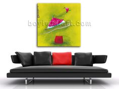 Elegant designed 1-panel Giclee high-resolution canvas wall print with fairy in modern style. It is available in numerous sizes to fit any size room!