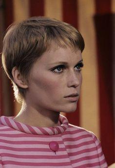 Pixie cut short hair Pictures & Photos of Mia Farrow - IMDb
