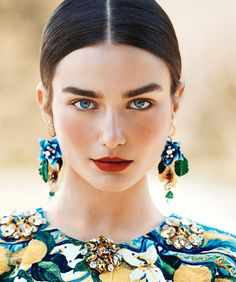 The Surprising Trick for Fuller Brows: Beard Dye | sun kissed bronze complexion and red