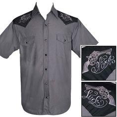 387aa4469eb Steady Clothing Hard Luck Western Shirt - Charcoal