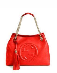 581c5f0147e2d Gucci Soho Leather Shoulder Bag Red Handbag