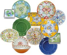 """Melamine Plastic Plates"" by bellissimohome on Polyvore http://shopatbellissimo.com/"
