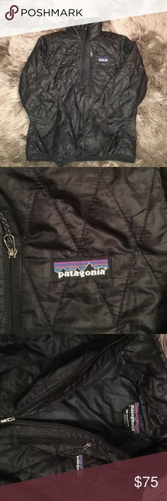 Black Patagonia nano puff 3/4 zip Great condition black Patagonia nano puff pull over!! Absolutely love this but it doesn't fit me anymore!! Very well taken care of!! Patagonia Jackets & Coats Puffers