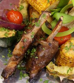 What a feast for the eyes this Mexican style ribs and grilled corn recipe is, especially if you serve it with the grilled tomatoes and other. Mexican Pork Dishes, Mexican Corn, Mexican Cooking, Mexican Food Recipes, Ethnic Recipes, Rib Recipes, Dinner Recipes, Food From Different Countries, Corn Recipe