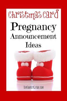 Superieur Christmas Card Pregnancy Announcement Ideas