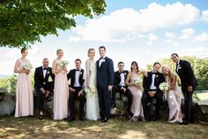 Our amazing bridal party. The bridesmaids all wore Jenny Yoo, and the groomsmen wore black tuxedos.