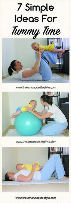 7 Simple, Fun Tummy Time Ideas, newborn - 7 months, baby play time ideas || www.thelemonadelifestyle.com
