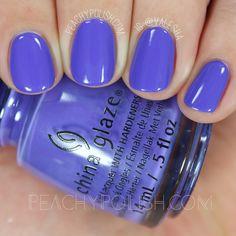 China Glaze I Got A Blue Attitude   Summer 2016 Lite Brites Collection   Peachy Polish