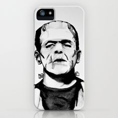 Frankensteins Monster iPhone & iPod Case by Noelle Fontaine - $35.00
