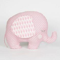 lucky the elephant aqua red sculpture clay papier. Black Bedroom Furniture Sets. Home Design Ideas