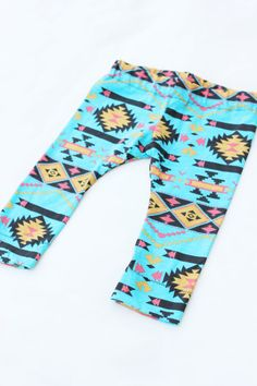 Baby Teal Aztec Leggings