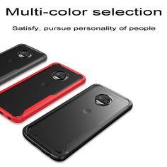For Motorola Moto G6 G5s Plus Hybrid Back Skin Soft Bumper Clear Hard Case Cover