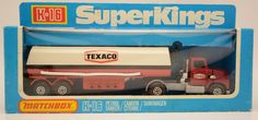 Matchbox Ford Texaco Tank Truck Unpunched Box Super Kings K-16 Toy Fuel Tanker