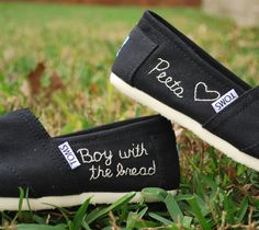 """Boy with the bread"" custom Hunger Games Inspired TOMS"