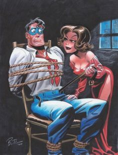 The Spirit & P'Gell by Bruce Timm